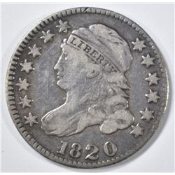 1820 BUST DIME XF