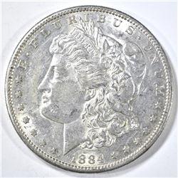 1884-S MORGAN DOLLAR CH AU