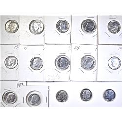 (15) GEM PROOF ROOSEVELT DIMES: