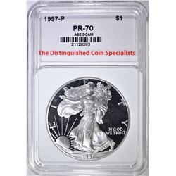 1997-P SILVER EAGLE, TDCS PERFECT GEM PROOF DCAM