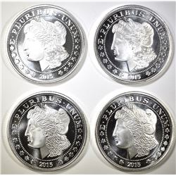 4- MORGAN DOLLAR INSPIRED 1oz SILVER ROUNDS