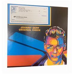 Johnny Depp Original Vintage Un-used Check