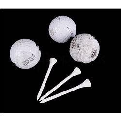 LOST Golf Balls & Gold Tee Set