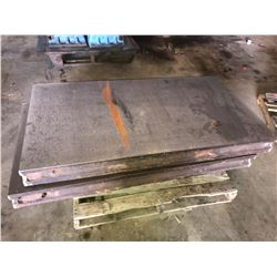 "(2) 32"" x 60"" x 5"" Thick Steel Layout Plates"