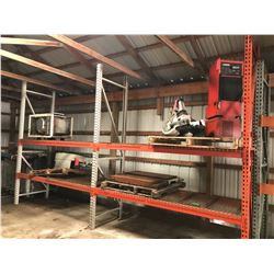 "(2) Sections Pallet Racking 10' Tall x 9' Long x 36"" Deep"
