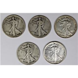 WALKING LIBERTY HALF DOLLAR LOT: