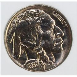1936 BUFFALO NICKEL NGP SUPERB GEM BU