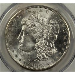 1881-S MORGAN SILVER DOLLAR PCGS MS65