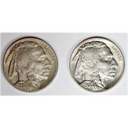1930-S AND 1930 BUFFALO NICKELS