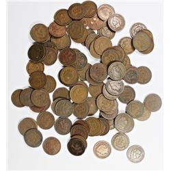 100 MIXED INDIAN HEAD CENTS