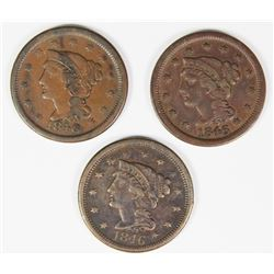 SET OF (3) 1846 CENTS: