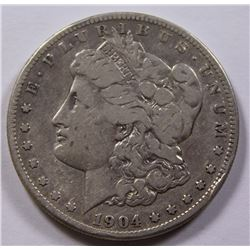 1904-S MORGAN SILVER DOLLAR