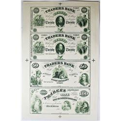 1860-S VIRGINIA TRADERS BANK PROOF SHEET