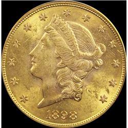 1898-S $20.00 GOLD LIBERTY