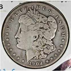 1902 -S MORGAN SILVER DOLLAR