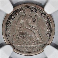 1860-S SEATED DIME