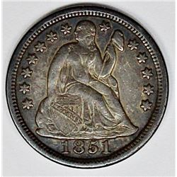 1851 SEATED DIME