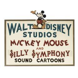 Walt Disney Hyperion Studios Replica Sign.