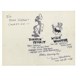 Drawings & Notes by Animator Norm Blackburn.