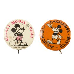 Pair of Mickey Mouse Club Buttons.