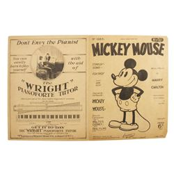 Original Mickey Mouse Comedy Song Sheet Music.