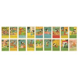 Collection of (18) 1930s Mickey Mouse Bread Cards.
