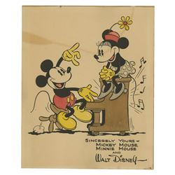 Walt Disney Studios Hand-Painted Fan Card.