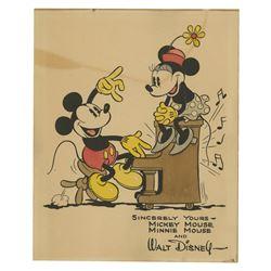 Walt Disney Studios Hand-Painted Fan Card.