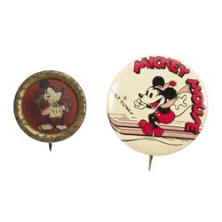 Pair of Vintage Mickey Mouse Buttons.