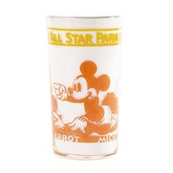 1939 Walt Disney All Star Parade Glass Tumbler.
