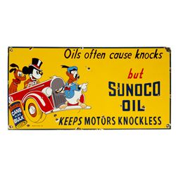 Sunoco Oil Walt Disney Character Metal Sign.