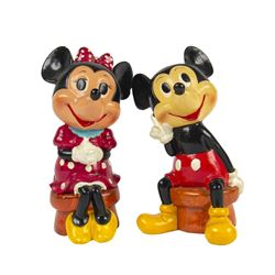 Mickey and Minnie Hand-Painted Character Banks.