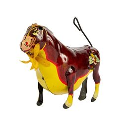 Ferdinand the Bull Wind-Up Tin Toy.