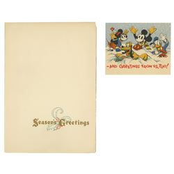 1937 Walt Disney Studio Christmas Card.