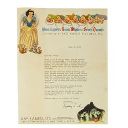 Kay Kamen Ltd. Snow White and the Seven Dwarfs Letter.