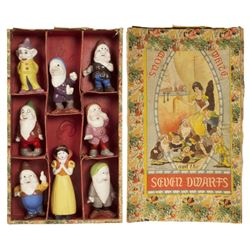 Group of (8) Snow White & the Seven Dwarfs Figures.