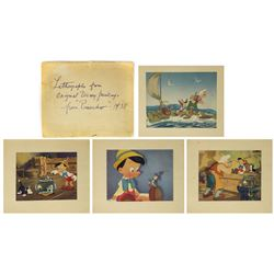 Set of (4) Vintage Pinocchio Lithographs.