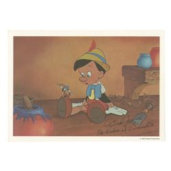 Pinocchio Postcard Signed by Dick Jones.