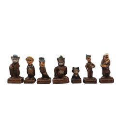 Set of (7) Pinocchio Character Figurines.
