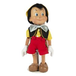 Hand-Crafted Wooden Pinocchio Doll.