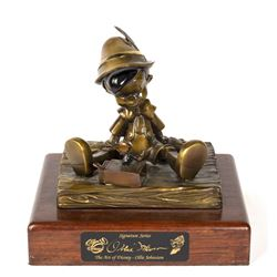 Pinocchio Limited Ed. Ollie Johnston Bronze Sculpture.
