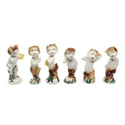 Set of (6) Vernon Kilns Fantasia Centaur Figurines.