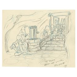 Sorcerer's Apprentice Mickey Drawing by Ed Love.