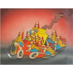 Original Dumbo Firefighting Clowns Animation Cel.