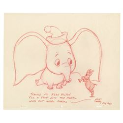 Original Dumbo Drawing by Hicks Lokey.
