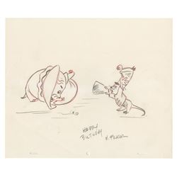 Original Dumbo Drawing by Hugh Fraser.