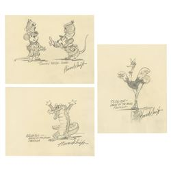 Collection of (3) Original Drawings by Howard Swift.