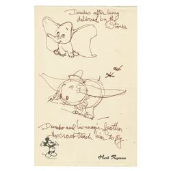 Original Dumbo Drawings By Herb Ryman.