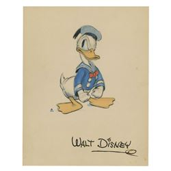 Donald Duck Walt Disney Productions Fan Card.