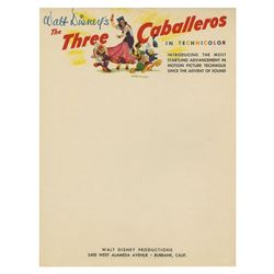 The Three Caballeros Unused Studio Stationery.